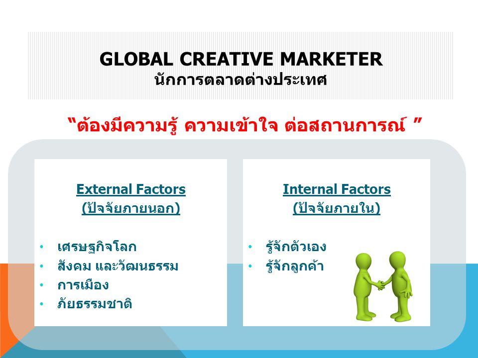 Global Creative Marketer นักการตลาดต่างประเทศ