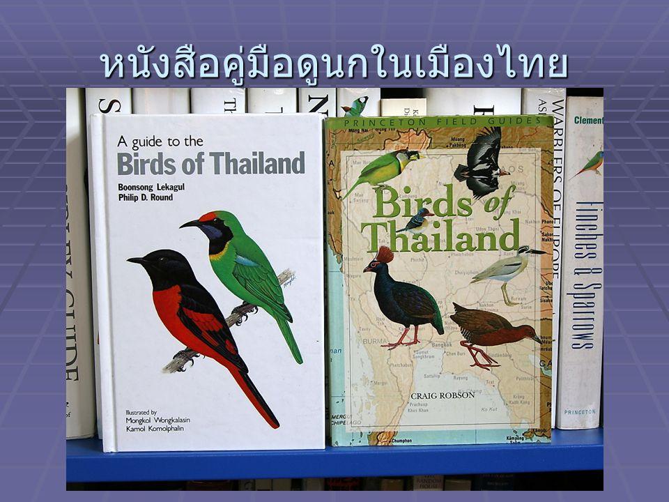 หนังสือคู่มือดูนกในเมืองไทย