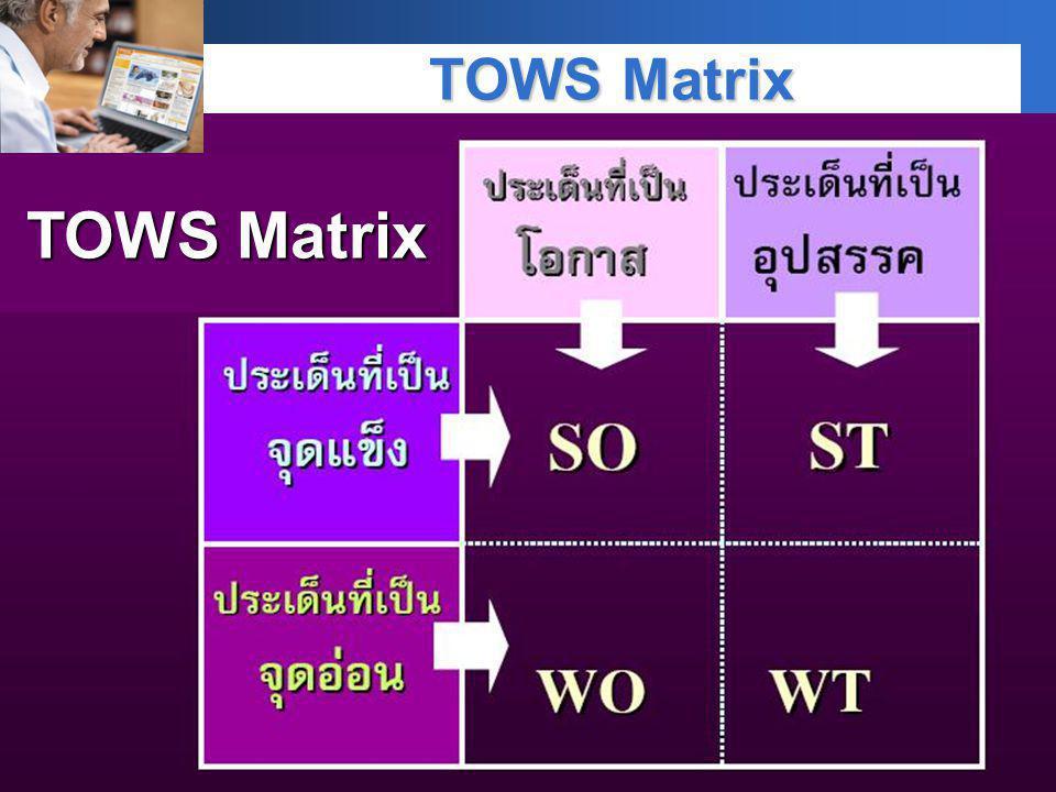 TOWS Matrix TOWS Matrix