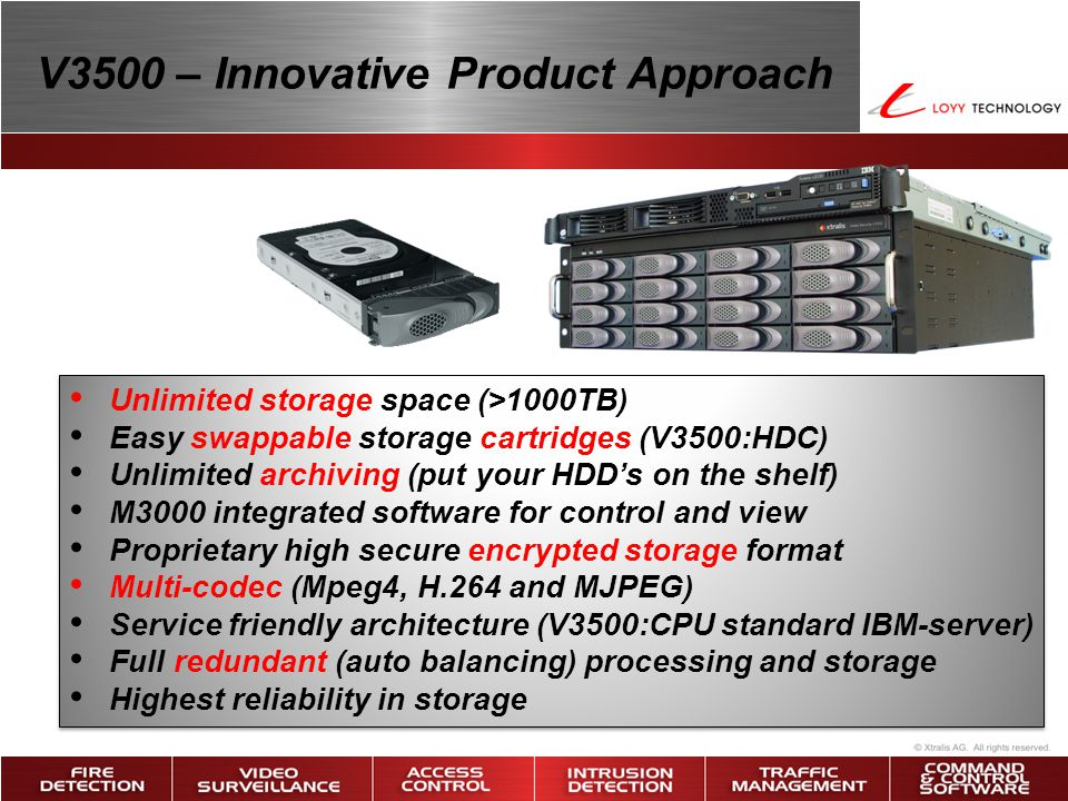 V3500 – Innovative Product Approach