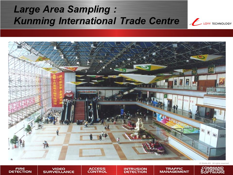 Large Area Sampling : Kunming International Trade Centre