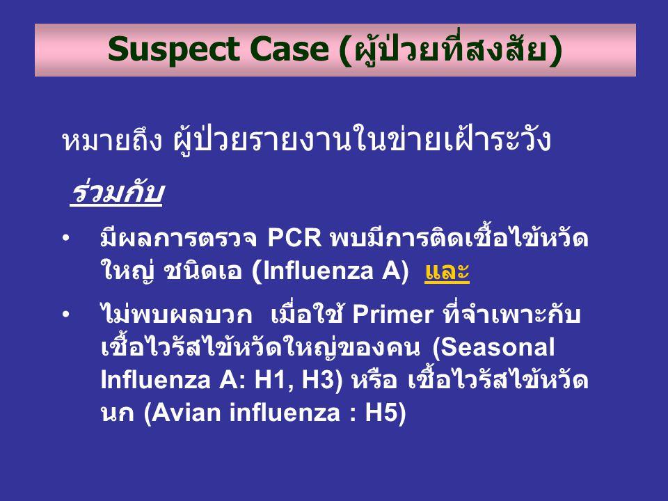 Suspect Case (ผู้ป่วยที่สงสัย)