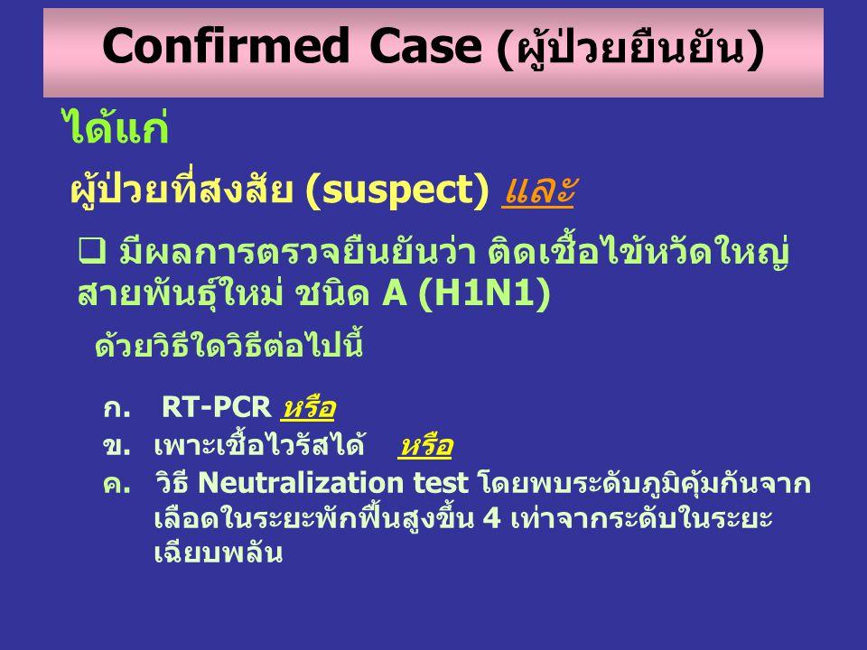 Confirmed Case (ผู้ป่วยยืนยัน)