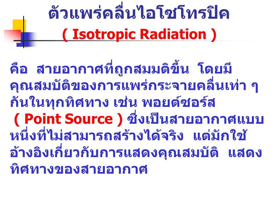 ตัวแพร่คลื่นไอโซโทรปิค ( Isotropic Radiation )