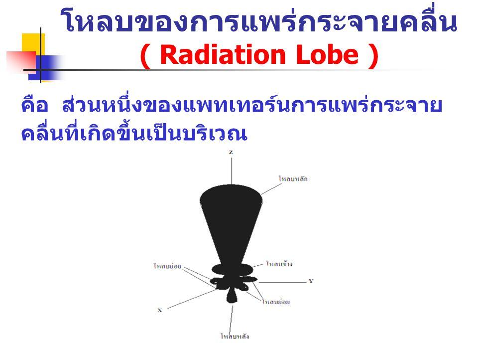 โหลบของการแพร่กระจายคลื่น ( Radiation Lobe )