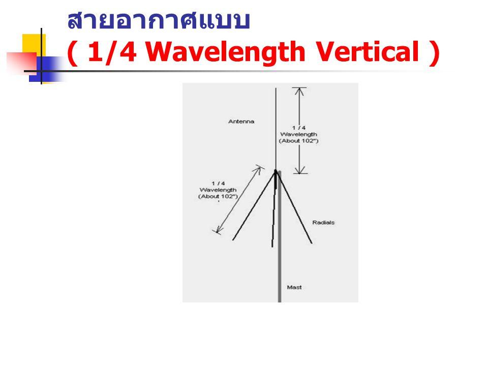 สายอากาศแบบ ( 1/4 Wavelength Vertical )
