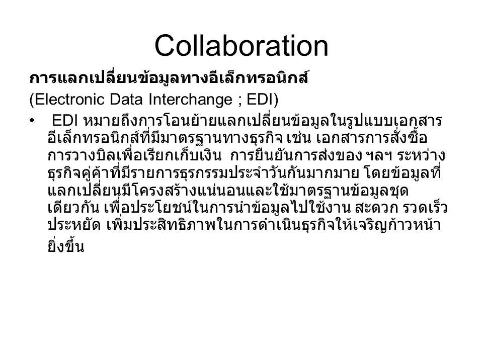 Collaboration การแลกเปลี่ยนข้อมูลทางอีเล็กทรอนิกส์