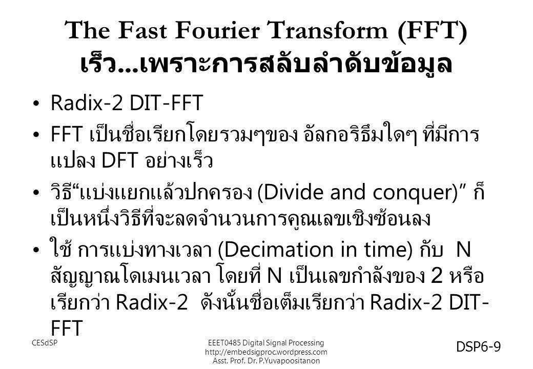 The Fast Fourier Transform (FFT) เร็ว...เพราะการสลับลำดับข้อมูล