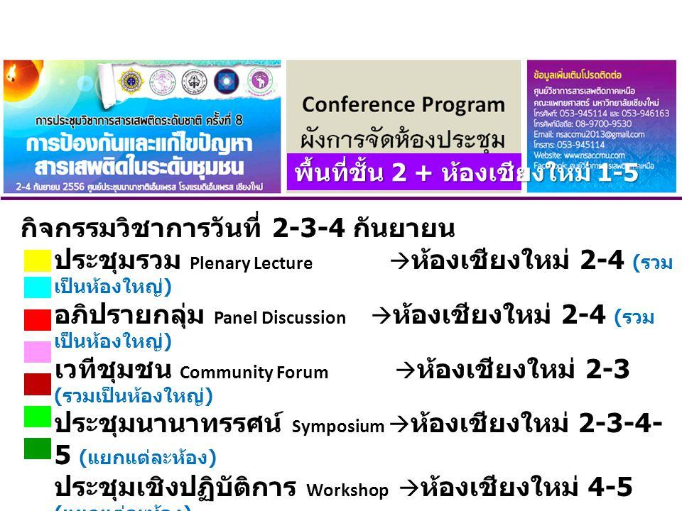กิจกรรมวิชาการวันที่ 2-3-4 กันยายน