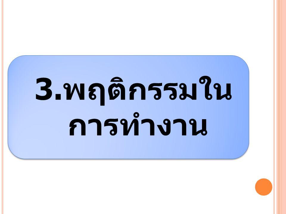 3.พฤติกรรมใน การทำงาน