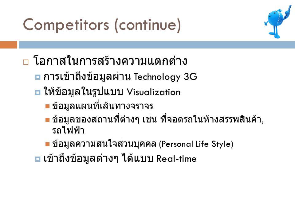 Competitors (continue)