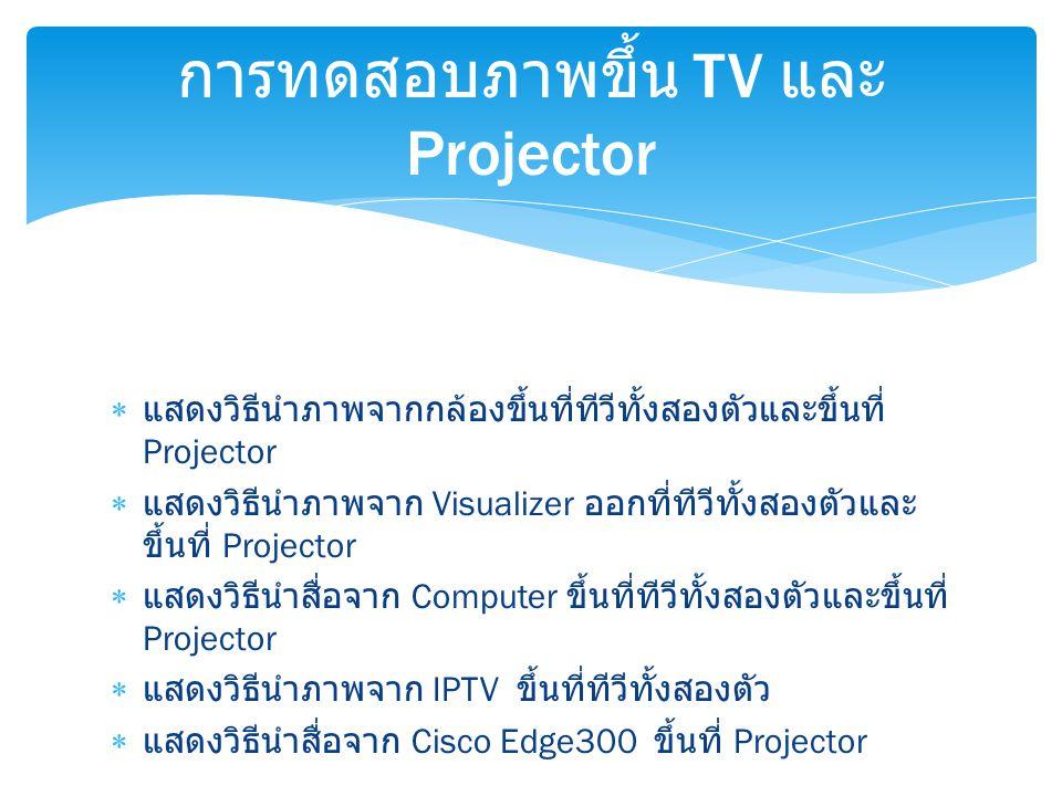 การทดสอบภาพขึ้น TV และ Projector