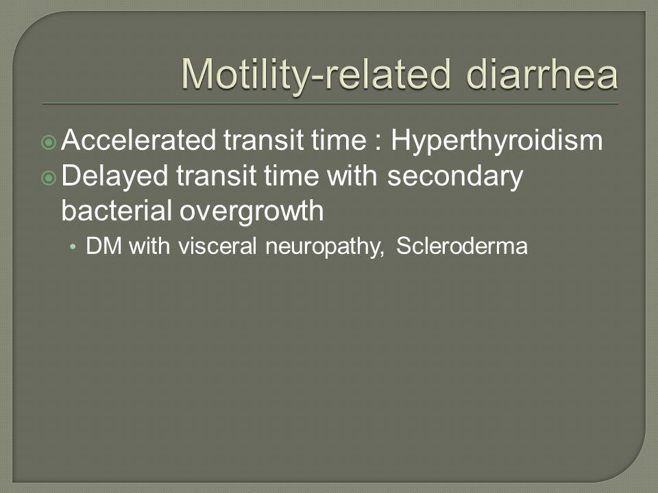 Motility-related diarrhea
