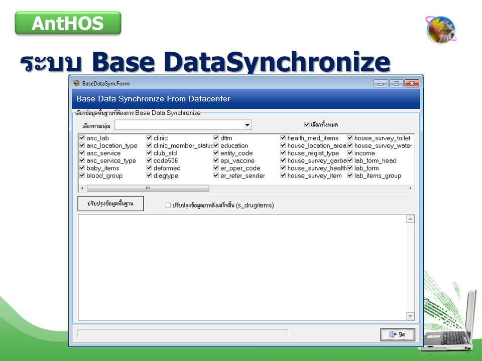 ระบบ Base DataSynchronize