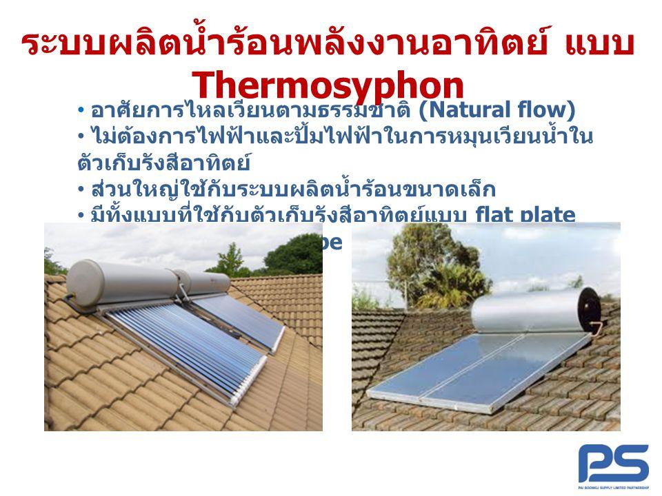 ระบบผลิตน้ำร้อนพลังงานอาทิตย์ แบบ Thermosyphon