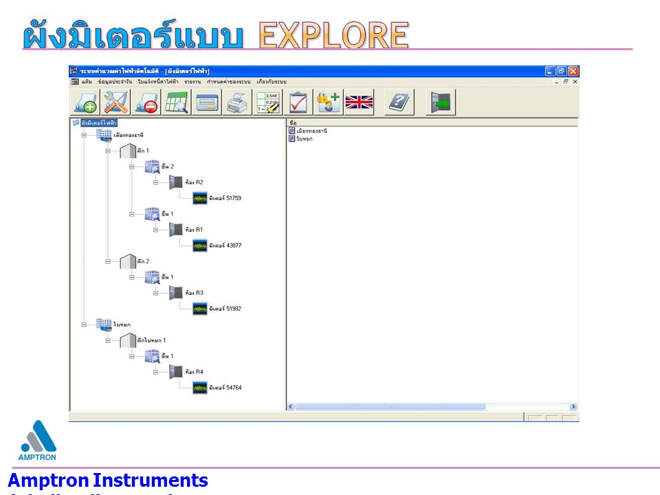 ผังมิเตอร์แบบ Explore