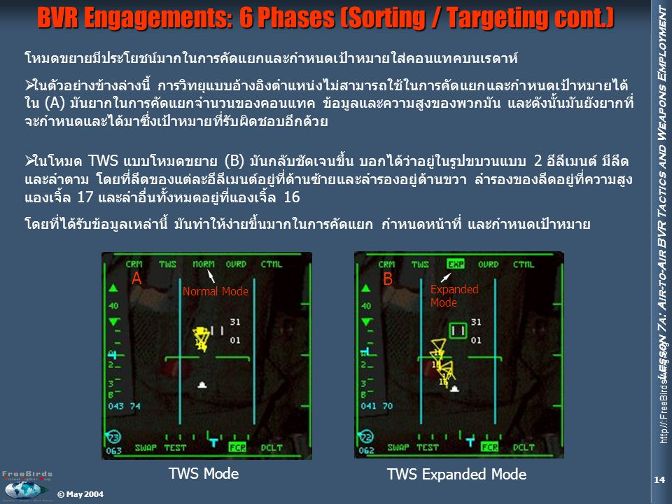 BVR Engagements: 6 Phases (Sorting / Targeting cont.)