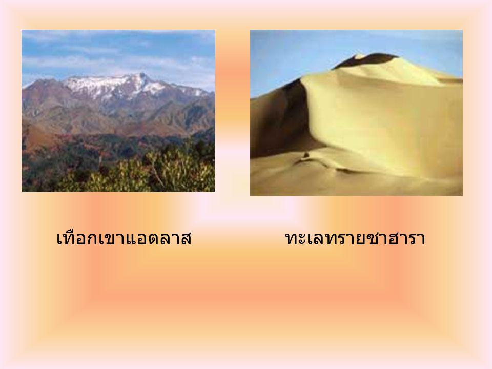 เทือกเขาแอตลาส ทะเลทรายซาฮารา