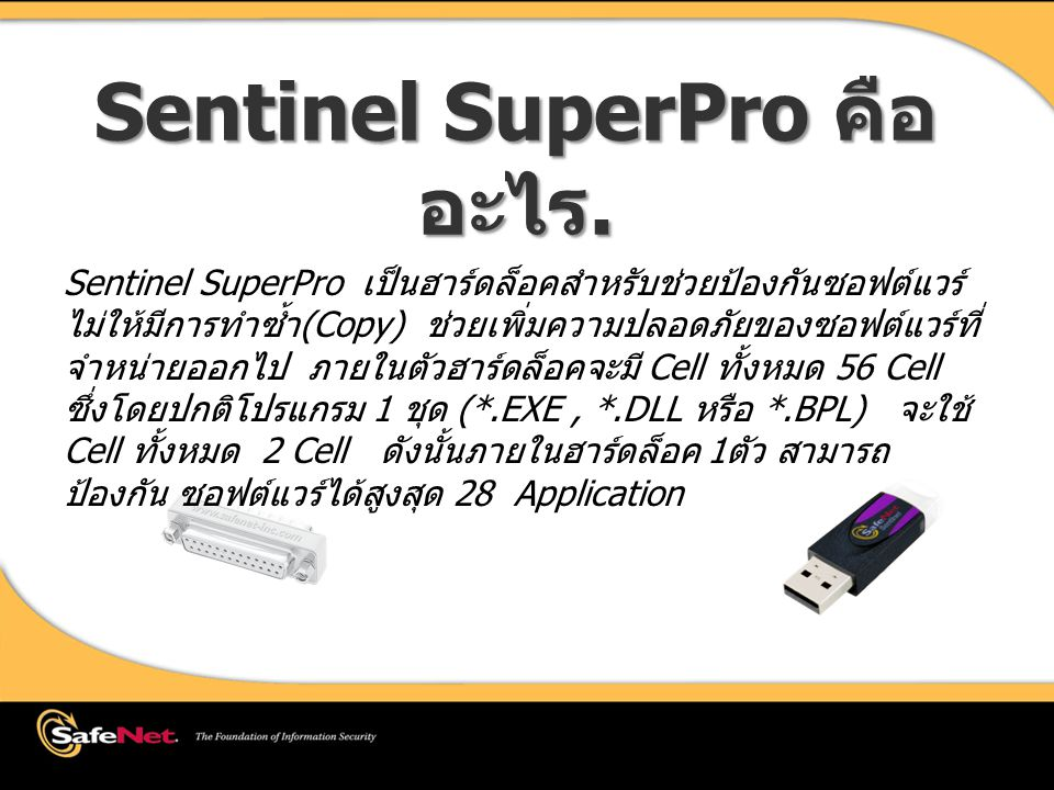 Sentinel SuperPro คืออะไร.
