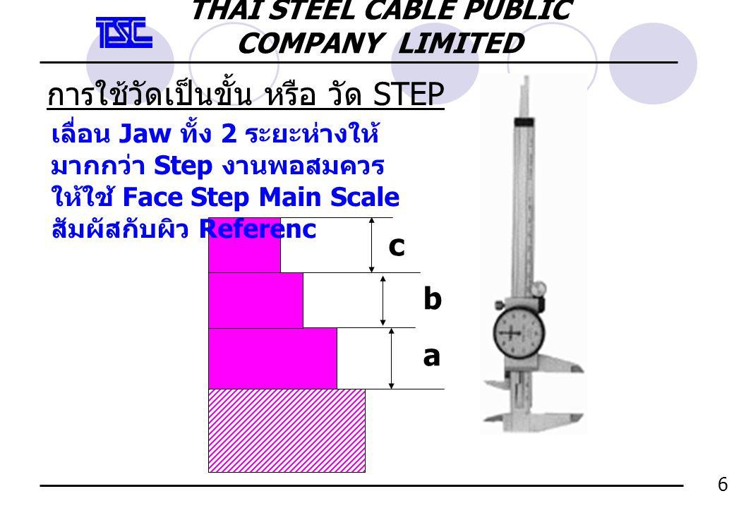 การใช้วัดเป็นขั้น หรือ วัด STEP