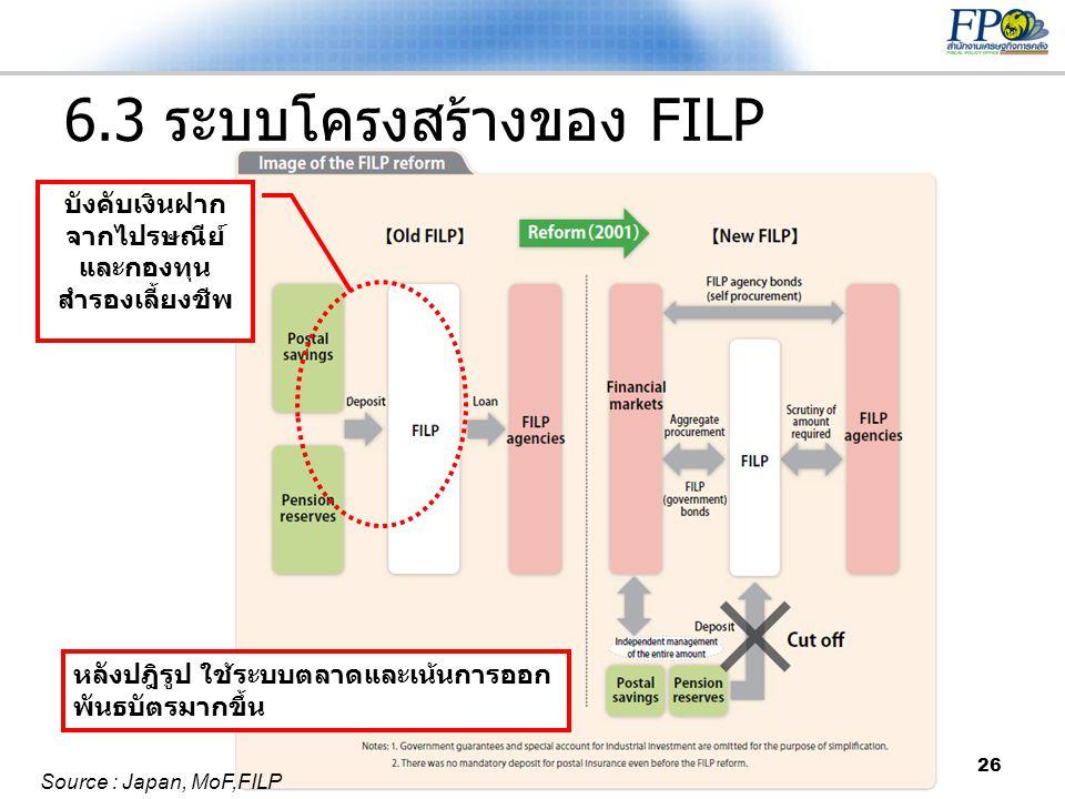 6.3 ระบบโครงสร้างของ FILP