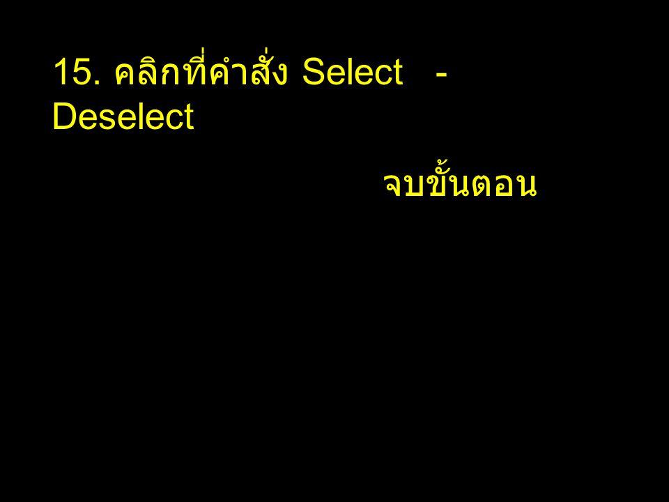 15. คลิกที่คำสั่ง Select - Deselect
