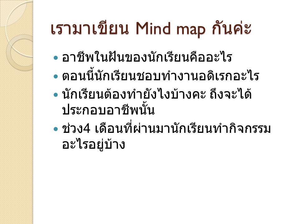 เรามาเขียน Mind map กันค่ะ