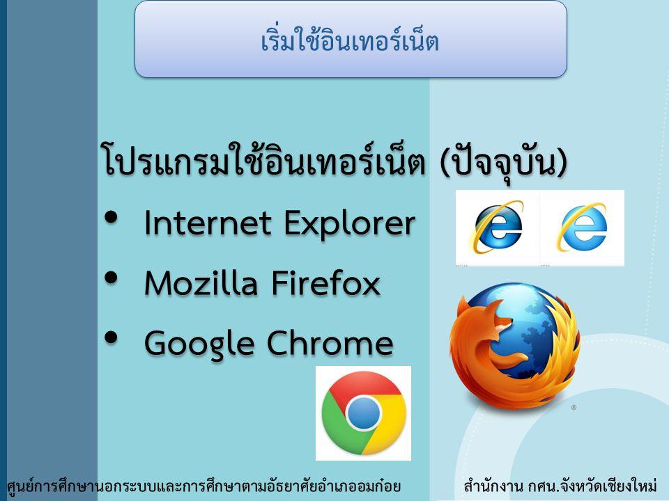 เริ่มใช้อินเทอร์เน็ต
