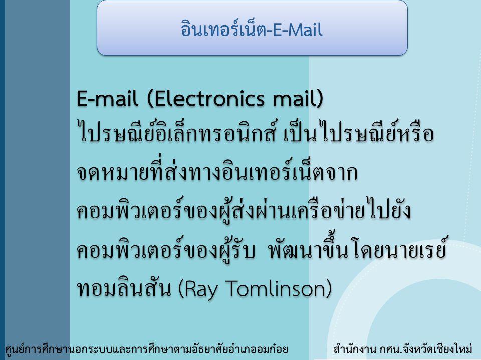 E-mail (Electronics mail)