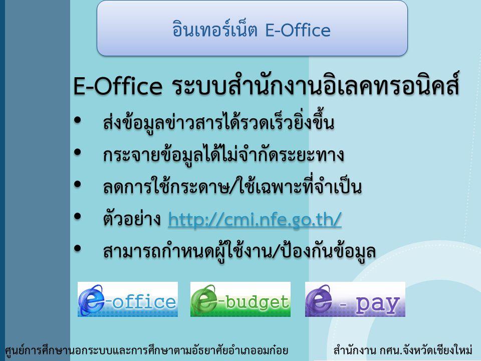 อินเทอร์เน็ต E-Office