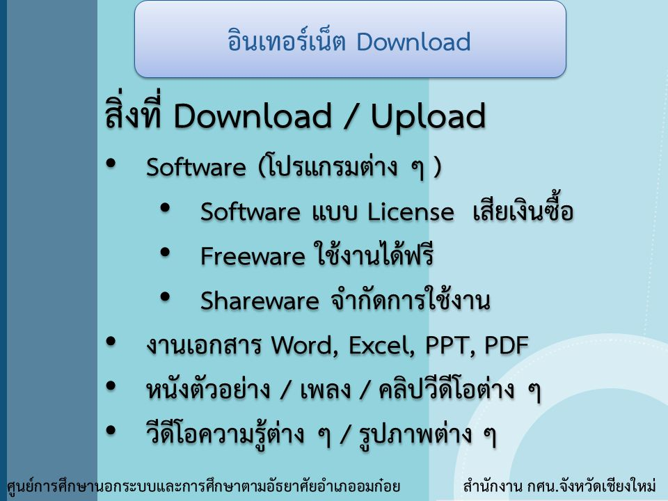 อินเทอร์เน็ต Download