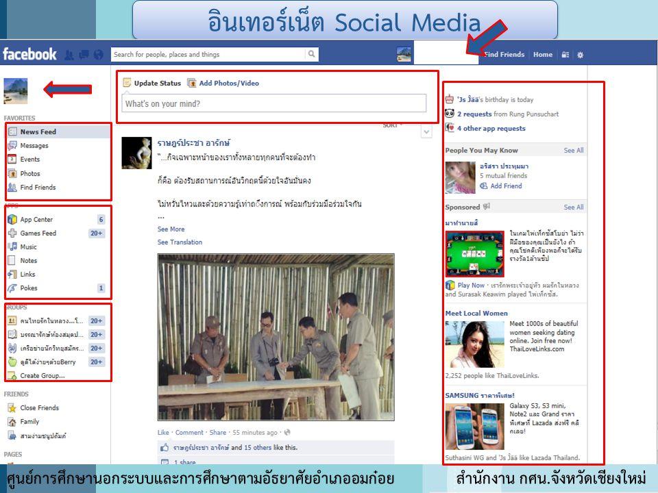 อินเทอร์เน็ต Social Media