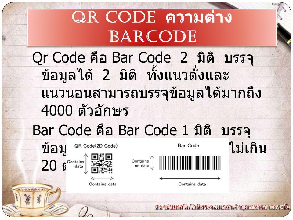 QR CODE ความต่าง Barcode