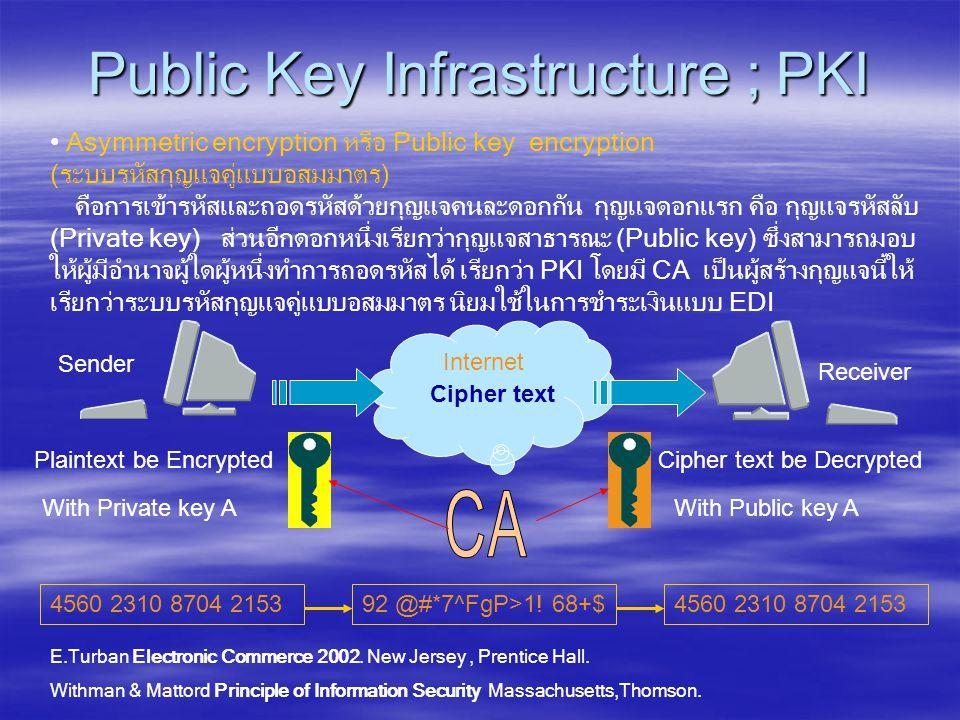 Public Key Infrastructure ; PKI