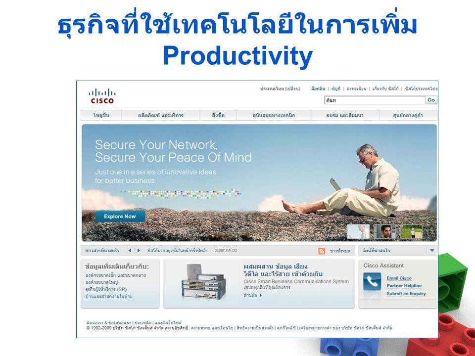 ธุรกิจที่ใช้เทคโนโลยีในการเพิ่ม Productivity