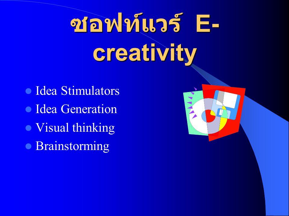 ซอฟท์แวร์ E-creativity