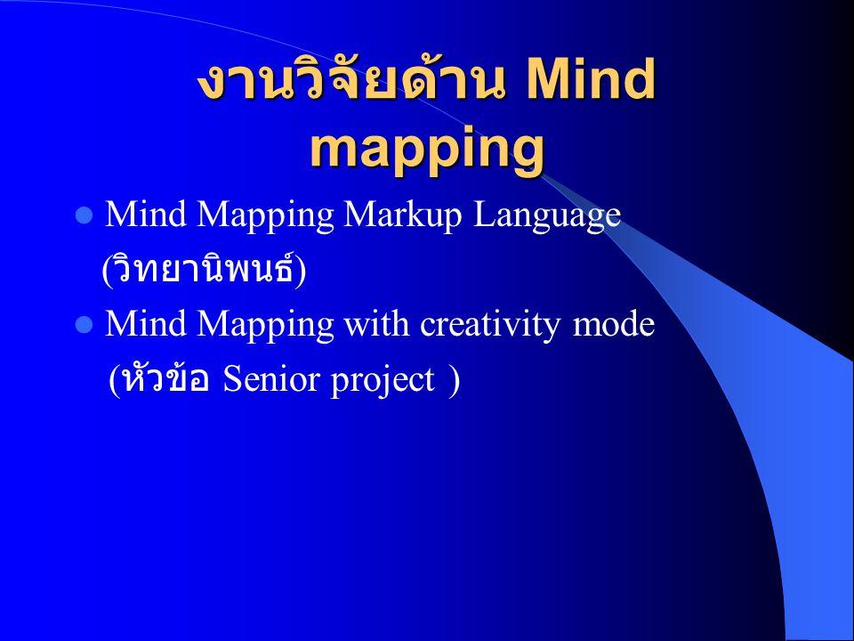 งานวิจัยด้าน Mind mapping