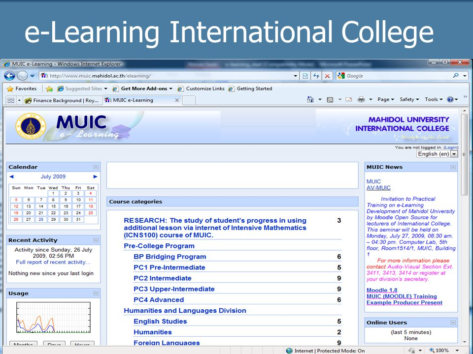e-Learning International College