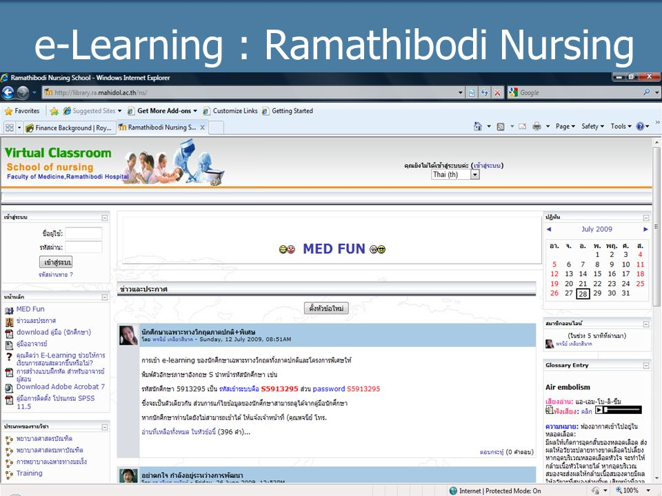 e-Learning : Ramathibodi Nursing