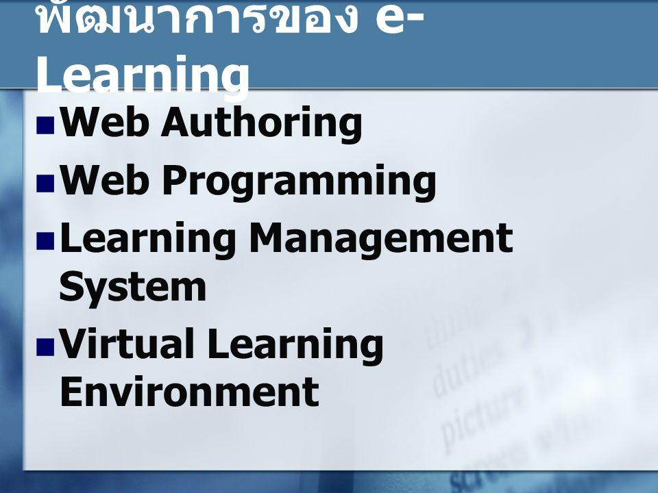พัฒนาการของ e-Learning