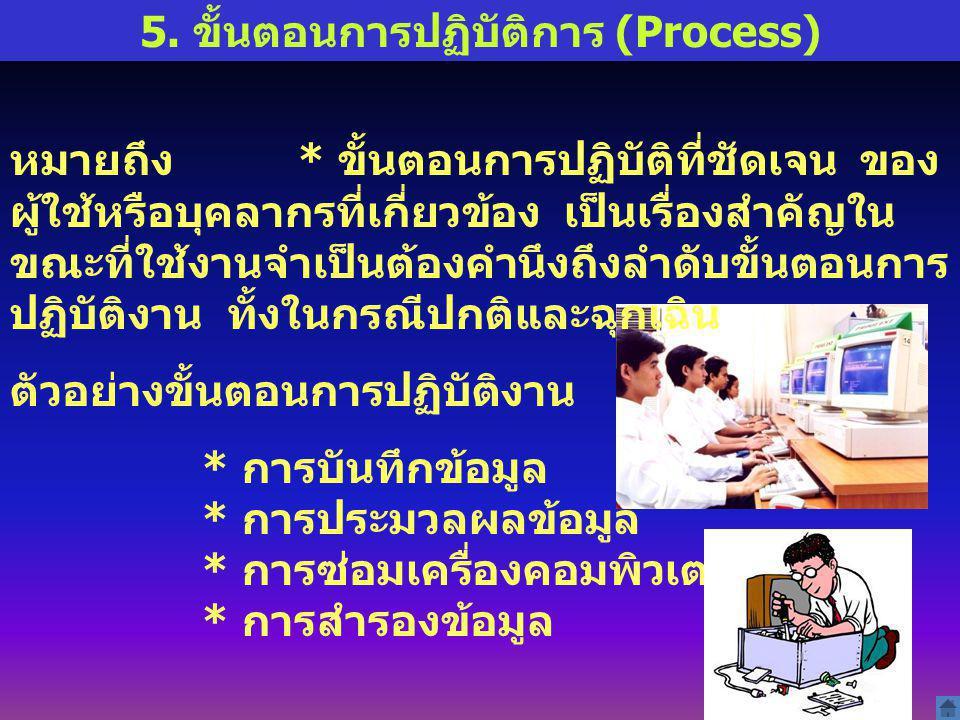 5. ขั้นตอนการปฏิบัติการ (Process)