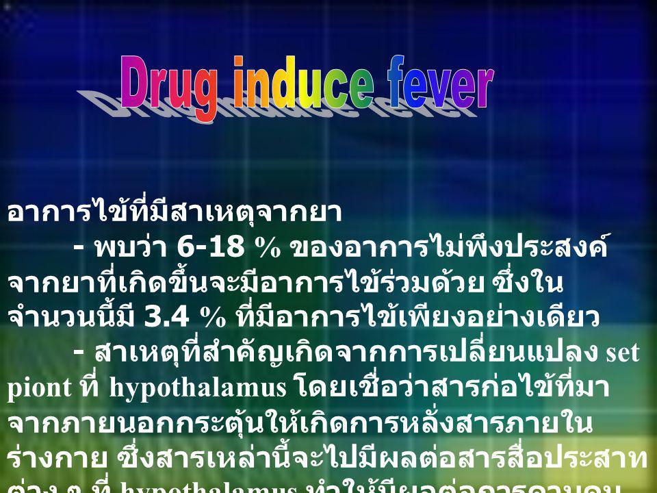 Drug induce fever อาการไข้ที่มีสาเหตุจากยา