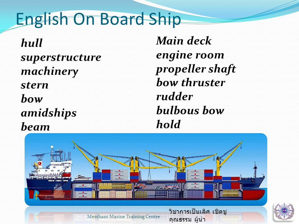 English On Board Ship Main deck