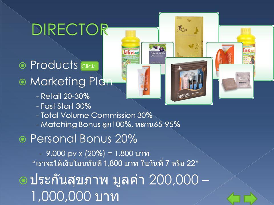 DIRECTOR ประกันสุขภาพ มูลค่า 200,000 – 1,000,000 บาท Products