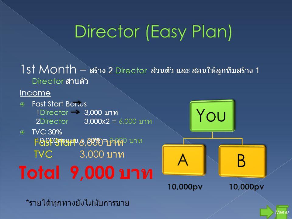 Total 9,000 บาท Director (Easy Plan)