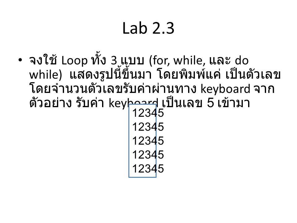 Lab 2.3