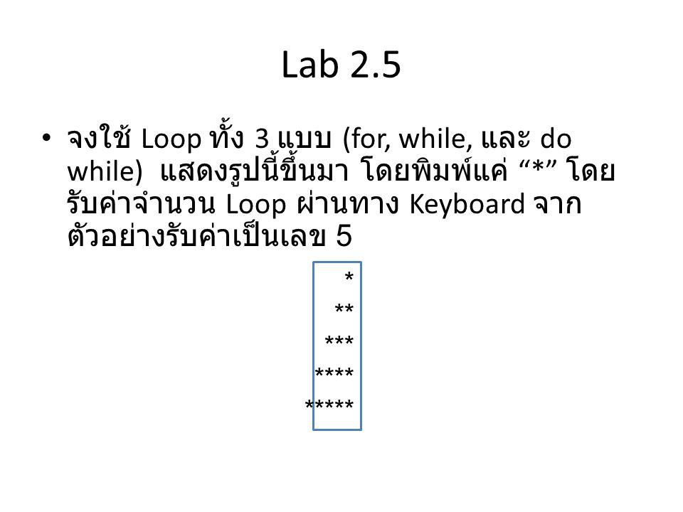 Lab 2.5
