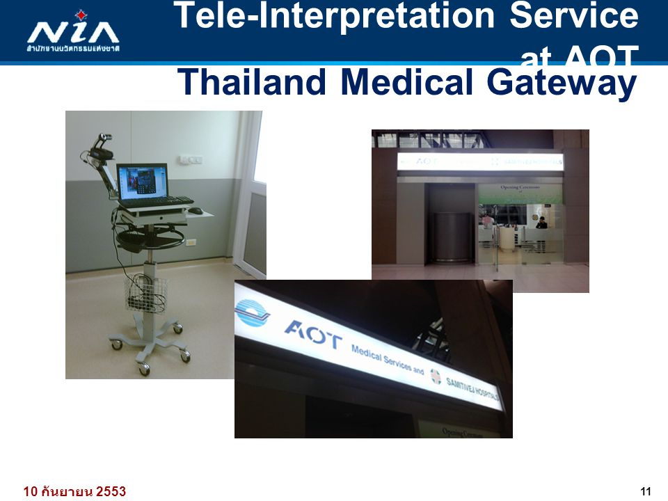 Tele-Interpretation Service at AOT