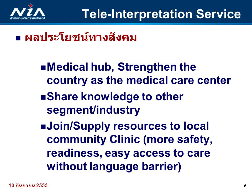 Tele-Interpretation Service