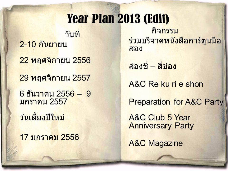 Year Plan 2013 (Edit)